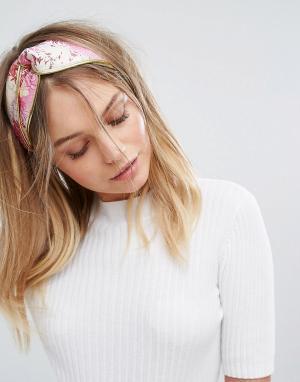 New Look Повязка на голову с жаккардовым узором. Цвет: розовый