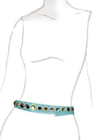 Ремень Eleganzza. Цвет: голубой