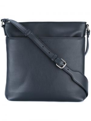 Плетеная сумка на плечо Ermenegildo Zegna. Цвет: синий