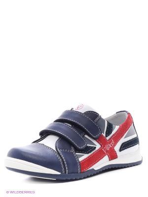Ботинки Vitacci. Цвет: синий, красный, белый