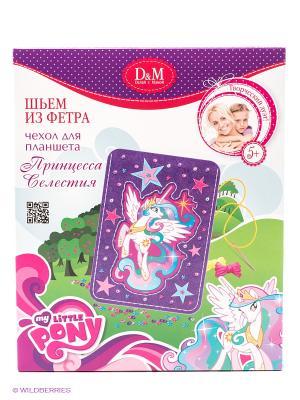 Набор шьем чехол для планшета Принцесса Селестия My Little Pony Делай с мамой. Цвет: сиреневый