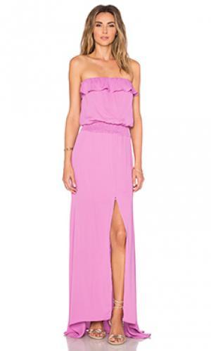 Макси платье yaffa Karina Grimaldi. Цвет: фиолетовый