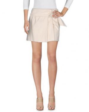 Джинсовая юбка ISABEL MARANT. Цвет: бежевый