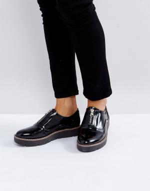 London Rebel Туфли на платформе с молниями. Цвет: черный