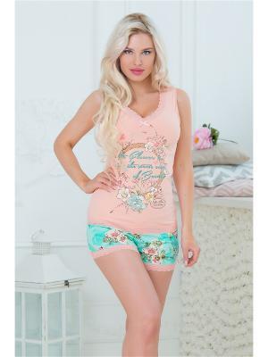 Пижама Mia Cara. Цвет: персиковый
