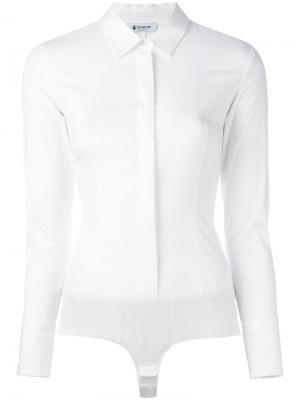 Боди-рубашка Dondup. Цвет: белый
