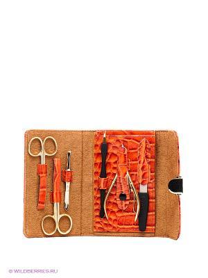 Маникюрный набор GD. Цвет: оранжевый