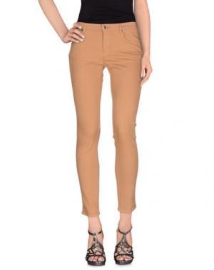 Джинсовые брюки M.GRIFONI DENIM. Цвет: хаки