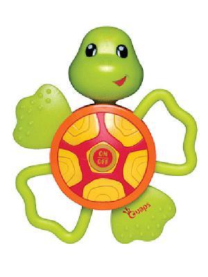 Игрушка с прорезывателями OUAPS. Цвет: салатовый, красный