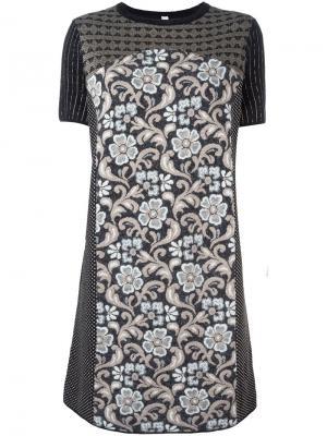 Платье с цветочным узором Antonio Marras. Цвет: чёрный