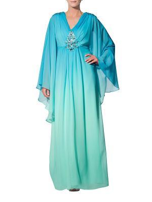 Платье APART. Цвет: голубой, зеленый
