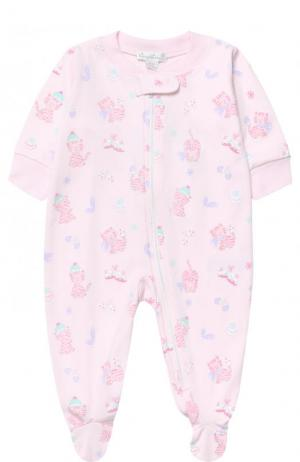 Хлопковая пижама с принтом Kissy. Цвет: разноцветный