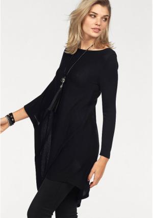 Пуловер Laura Scott. Цвет: светло-коричневый, сливовый, черный