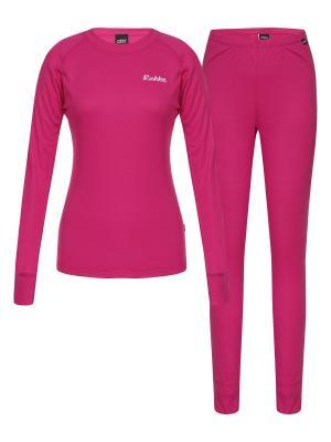 Комплект (брюки+ джемпер ) Rukka. Цвет: розовый