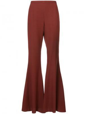Расклешенные брюки Rosetta Getty. Цвет: красный