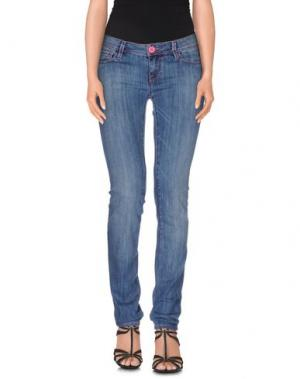 Джинсовые брюки JFOUR. Цвет: синий