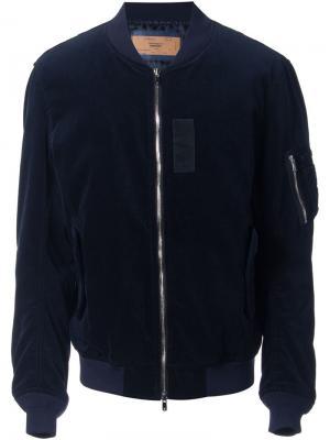Куртка-бомбер Clothsurgeon. Цвет: синий