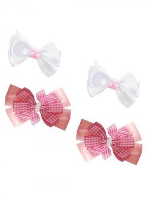 Набор аксессуаров для волос City Flash. Цвет: розовый, белый