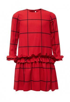 Платье Il Gufo. Цвет: красный