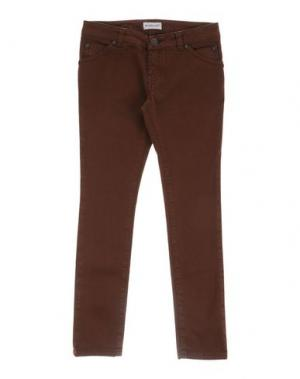 Джинсовые брюки PINKO UP. Цвет: коричневый