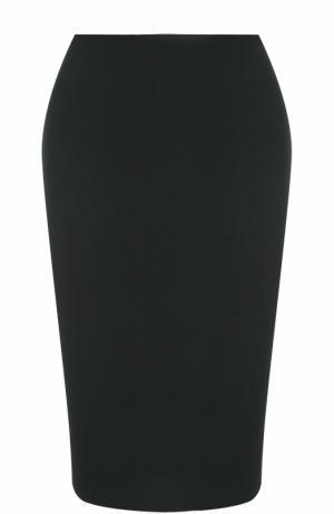 Юбка-карандаш фактурной вязки St. John. Цвет: черный