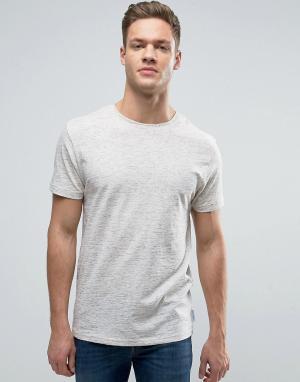 Bellfield Меланжевая футболка. Цвет: белый