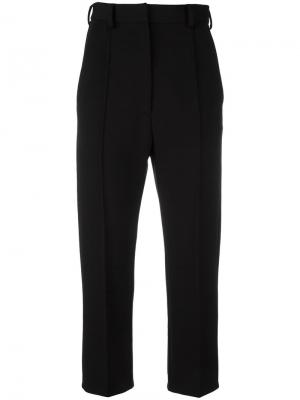 Укороченные брюки Mm6 Maison Margiela. Цвет: чёрный