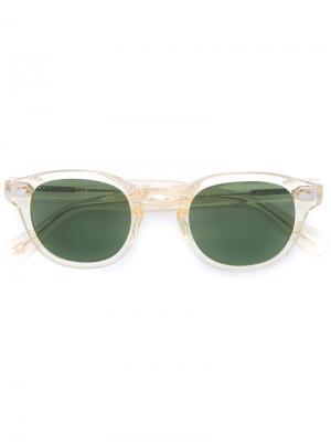 Солнцезащитные очки Lemtosh Moscot. Цвет: жёлтый и оранжевый