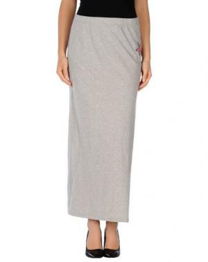 Длинная юбка MY T-SHIRT. Цвет: светло-серый