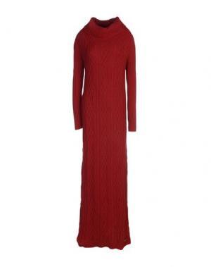 Длинное платье TWIN-SET Simona Barbieri. Цвет: красно-коричневый