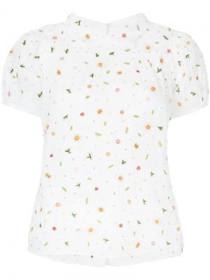 Рубашка с цветочной вышивкой Jupe By Jackie. Цвет: белый