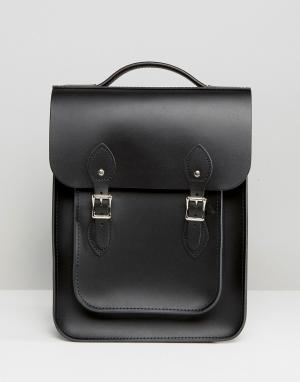 Leather Satchel Company Рюкзак. Цвет: угольно-черный