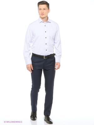 Рубашка мужская с длинным рукавом в полоску Mr. Marten. Цвет: светло-серый