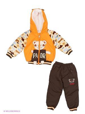 Комплект дет. 2 предм. Happy Bear. Цвет: коричневый, оранжевый