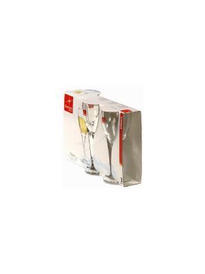 Набор 4-х бокалов шампанское Bormioli Rocco. Цвет: прозрачный