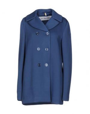 Легкое пальто GEOSPIRIT. Цвет: пастельно-синий