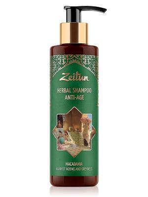 Фито-шампунь против седины и старения волос. С макадамией, без SLS Зейтун. Цвет: кремовый