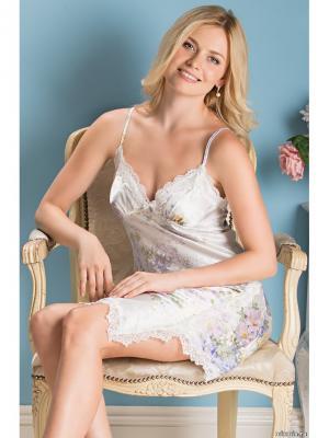 Ночная сорочка MIA-AMORE. Цвет: молочный