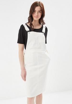 Платье джинсовое Mango. Цвет: белый