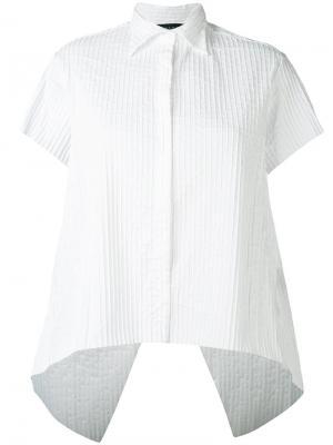 Полосатая рубашка свободного кроя Federica Tosi. Цвет: белый
