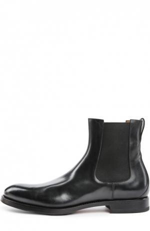 Кожаные челси на устойчивом каблуке W.Gibbs. Цвет: черный