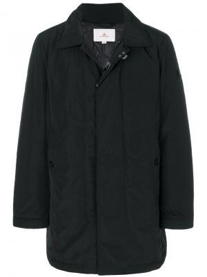 Стеганое пальто на молнии Peuterey. Цвет: чёрный
