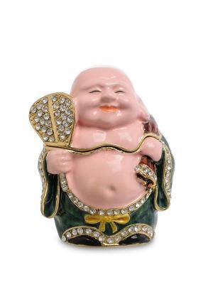 Шкатулка Бог богатства  Art East. Цвет: темно-зеленый
