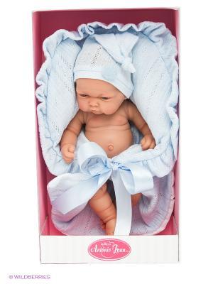 Кукла младенец Леон в голубом Antonio Juan. Цвет: голубой