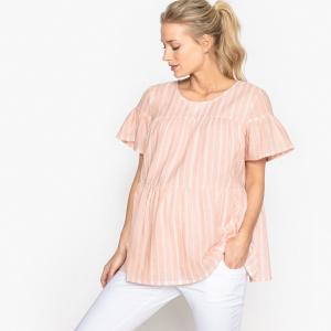Блузка в полоску для периода беременности La Redoute Collections. Цвет: в полоску