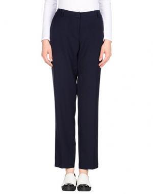 Повседневные брюки CARLA MONTANARINI. Цвет: темно-синий