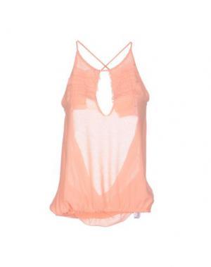 Топ без рукавов ANNARITA N.. Цвет: лососево-розовый