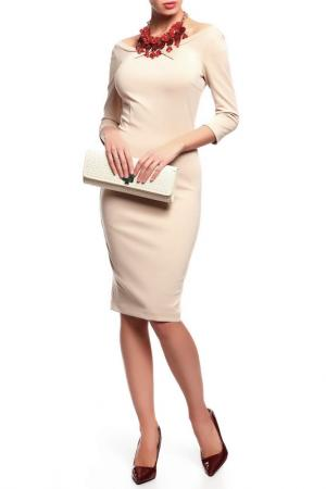 Платье Disetta. Цвет: бежевый