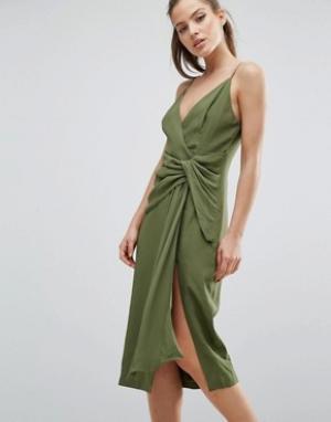 C/meo Collective Платье Interupt. Цвет: зеленый