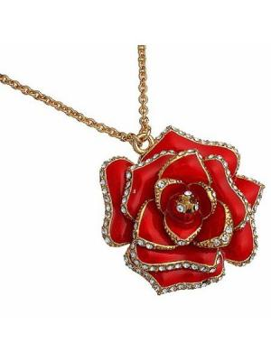 Подвеска Красная роза CHARMELLE. Цвет: красный, золотистый
